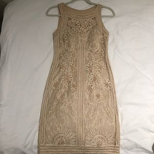Sue Wong Champagne Cocktail Dress Sz 2